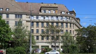 """Hotel """"Astoria"""" in Leipzig - Ansicht vom Promenadenring"""