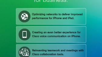 Cisco och Apple i teknik- och marknadssamarbete