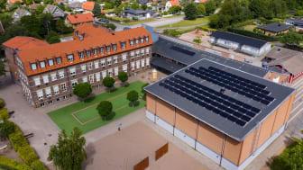 Västra Ramlösa skola i Helsingborg vinner Skåne Solar Award 2020. Bild: Eric Lindkvist, Helsingborg Stad