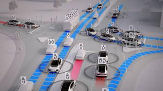 Fremtidens mobilitet, hvor selvkørende biler kan være med til at løse de trafikale udfordringer.