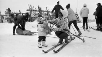 Ånnaboda vintern 1968. Från länsmuseets samlingar, Örebrokurirens bildarkiv.