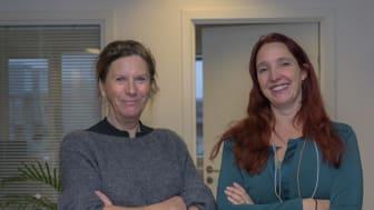 Karen-Inger Thorsen, nuværende direktør i FødevareBanken (tv) og ny direktør fra 1.3.2021 Lea Gry von Cotta-Schønberg (th)
