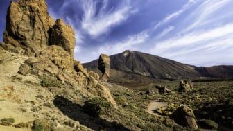 En utflykt i nationalparken Teide på Teneriffa är perfekt för den aktiva turisten. Foto: Canary Islands Tourism.