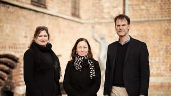 Cheferna för tre av Malmös största kulturinstitutioner startar ett stort samarbetsprojekt i juni 2022. På bilden: Kirse Junge-Stevnsborg (Malmö Konstmuseum), Kitte Wagner (Malmö Stadsteater), Mats Fastrup (Malmö Museer). Foto: Johan Sundell