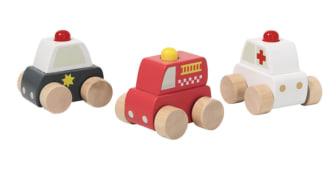 Tuotteen takaisinveto – Puiset leluautot (3-pakkaus), tuotenumero 31-5841