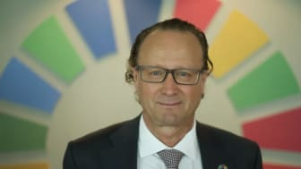 """""""We have a key role to play in accelerating the de-carbonization of the global economy"""", says Jan Erik Saugestad, CEO Storebrand Asset Management."""
