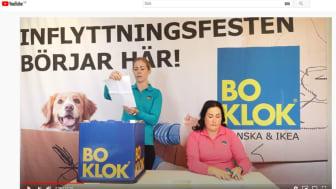Evelin Nordin och Jessica Rosén från BoKlok höll i den livesända säljstarten för BoKlok Älven i Sundsvall - från Malmö!