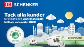 DB Schenker är bäst i branschen på hållbarhet