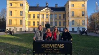 Här är vi traineer på studiebesök i Finspång för att höra mer om verksamheten där och för att träffa våra traineekollegor som sitter i just Finspång.