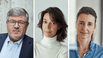På billedet: Adm. direktør Søren Kaare-Andersen, Mette Marcus og Sine Egede Eskesen. Foto: Ulrik Jantzen