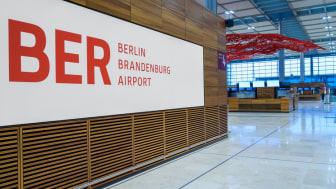 Inside of new BER Airport Berlin Brandenburg