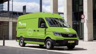 Bilerne er af typen MAN e-TGE, og vil blive benyttet af Bring til at levere pakker i centrum af København.