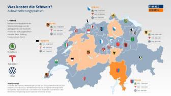 Kantonale Unterschiede: Autoversicherungsprämie im Tessin doppelt so teuer wie in Freiburg