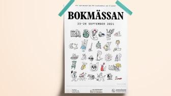 Konstnären, författaren och filmskaparen Carl Johan De Geer har skapat ett levande alfabet som gestaltar årets Bokmässa.