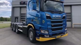 Rørby Johansens nye Scania R 580 V8 8x4*4 med JOAB-opbygning.