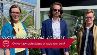 Vastuullisesti hyvää -podcast – Onko kasvipohjaisuus oikotie onneen?