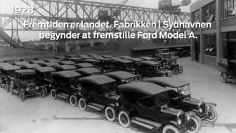 Ford Danmark 100-årstidslinje