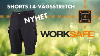 Succén med arbetskläder i stretch fortsätter - Worksafe lanserar stretchshorts
