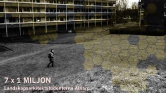 Inbjudan till landskapsarkitektstudenters utställning om miljonprogram