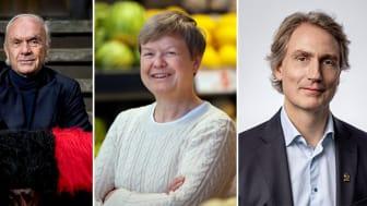 Sven-Olof Johansson, VD Fastpartner,  Åsa Domeij, hållbarhetschef Axfood och Erik Selin, VD Balder,  blickar in i framtiden under årets Logistik & Transport.