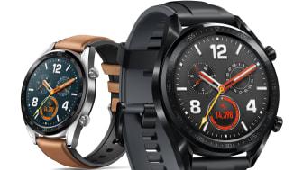 Vänster: Huawei Watch GT Classic edition, Höger: Huawei Watch GT Sport edition