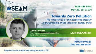 FEPA holder foredrag om hvordan den Europeiske slipeindustrien kan bevege seg mot nullforurensningsmålet ved hjelp av SEAM.