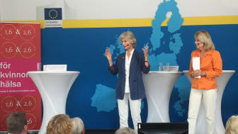 Anna Maria Corazza Bildt, ledamot, EU-parlamentet och Alexandra Charles, ordförande, 1,6 & 2,6 miljonerklubben