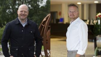 Marcus Björk divisonschef Infra och Dan-Erik Danielsson marknadchef Infra.