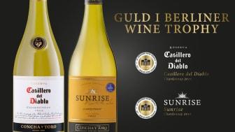 Guld till Sunrise och Casillero del Diablo i Berliner Wine Trophy