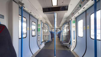 New Moorgate 717 train - saloon