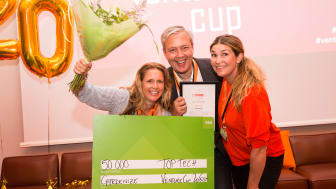 Teamet bakom Gardenize, från vänster Jenny Rydebrink, Magnus Janemyr & Jessica Lyon. Fotograf: Emmy Jonsson