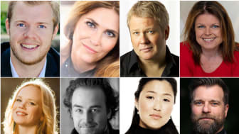 Oppe frå venstre: Magnus Dorholt Kjeldal, Eli Kristin Hanssveen, Thomas Ruud, Ann-Helen Moen, nede frå venstre: Beate Mordal, Jan Erik Fillan, Camilla Stenhoff Vist, Trond Gudevold