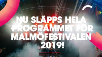 Över 13 000 timmar av lyckorus - nu släpps hela programmet för Malmöfestivalen 2019!