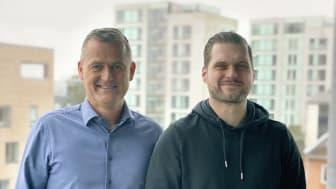 Overtagelsen af 1st Web udvider udbygger Vismas position inden for komplette digitale forretningsløsninger til B2B virksomheder. Adm. direktør Christian Poulsen for Co3 (tv.) Adm. direktør Tobias Høst for 1st Web (th.)