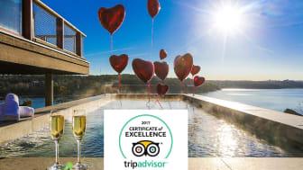 Högberga Gård på Lidingö tilldelas TripAdvisor® Certificate of Excellence 2017 både på Hotellet och Restaurang