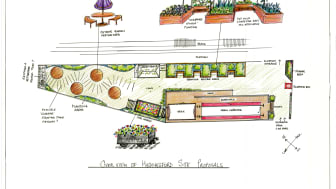 An overview of how the finished scheme might look.