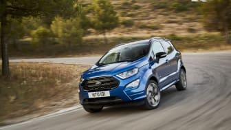 NY PÅ ALLE MÅTER: Nye Ford EcoSport har blitt ny både innvendig og utvendig. Den kommer også nå med muligheten for trekk på alle fire.