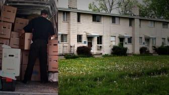 """""""Och det bästa Statskontoret kan föreslå är att Socialstyrelsen ska uppdatera sina allmänna råd. Vilket trams! Det krävs juridiska sanktioner mot dessa lagbrott."""" Foto: Peter Atkins(Flytt), James Martin (hus) (AdobeStock.com)"""