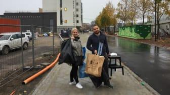 Ett ungt par flyttar in i ungdomsboendet Stämpen