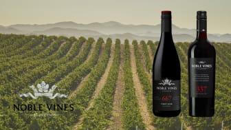 Noble Vines 667 Pinot Noir och Noble Vines 337 Red Blend i vingården San Bernabe i AVA Monterey