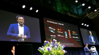 Dr Kunbin Hong lanserar ny AI-produkt Atlas 300 vid Huawei Horizon 2020