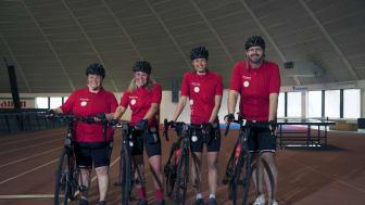 MinKlassikers modiga deltagare Line, Susanne, Ulrica och Michel. FOTO: Jeff Yingling