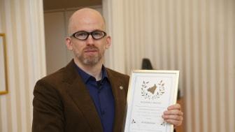 Ari Kolbeinsson, lektor i integrerad produktutveckling, tilldelas i år Skaraborgs Akademis pris till en avhandling skriven av en doktorand vid Högskolan i Skövde.