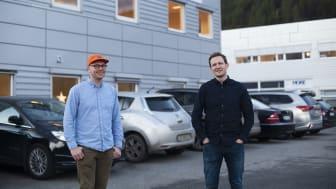 AI-utvikler i Conta, Thomas Frøysa og markedssjef i Conta, Dag Steinsvik.