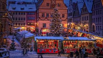 Julmarknaden Reiterlesmarkt i Rothenburg ob der Tauber (Bayern). FOTO: Rothenburg Tourismus Service/W. Pfitzinger