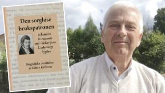 """Ett särtryck ur """"Den sorglöse brukspatronen"""" av Göran Karlsson finns nu att köpa på Blombergska Bokhandeln i Lindesberg."""