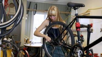 Reparation cykel