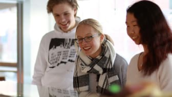 Ungdomar och lärare från skolor i Slovenien, Belgien och Tyskland gästar Skara.