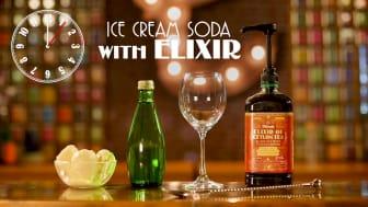 Ice Cream Soda med Dilmah Elixir
