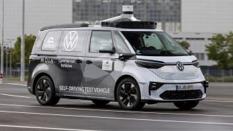 Volkswagen Erhvervsbiler, Argo AI og MOIA præsenterer den første ID. BUZZ-prototype til autonom kørsel